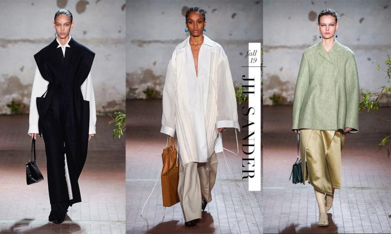2019秋冬服装系列报导,Jil Sander 勾勒极简的高级美感