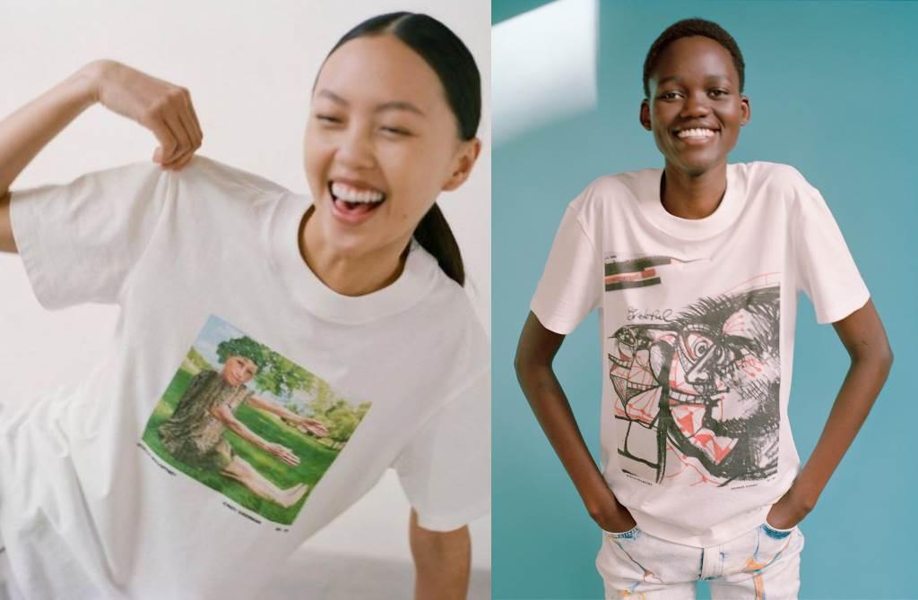 时尚界环保女神 携手全球艺术家推出限量版图案T恤!